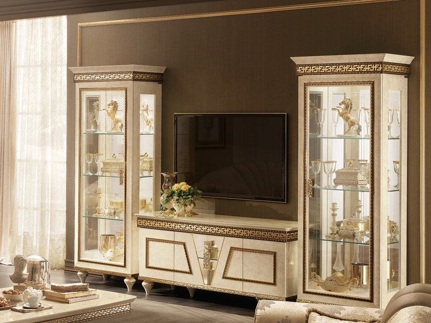 TV cabinet with doors FANTASIA | TV cabinet by Arredoclassic