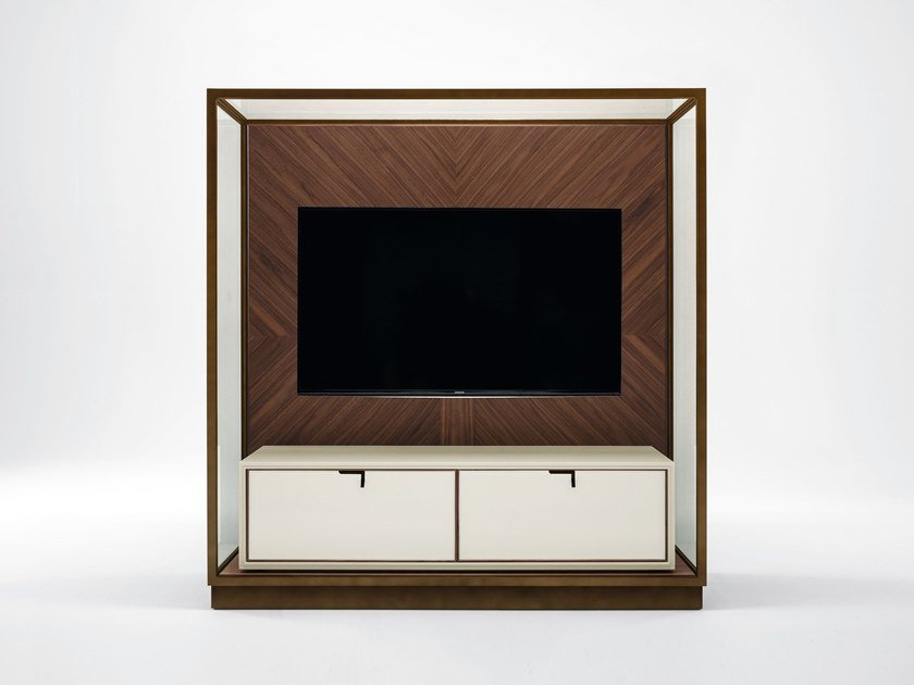 Wooden TV cabinet with drawers TOWN | TV cabinet by GIORGETTI