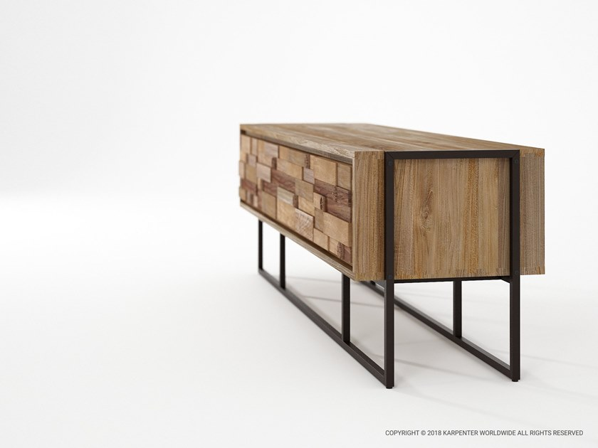 Carv'nMobile Cassetti Tv In Con Karpenter Teak XPiOkZu