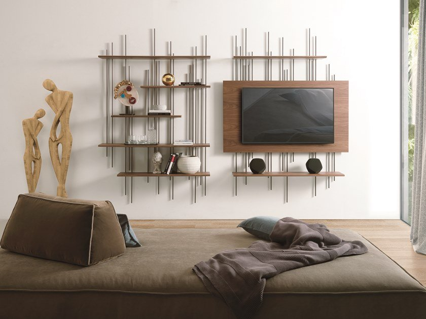 Bookcase / TV cabinet TUBE by Pacini & Cappellini