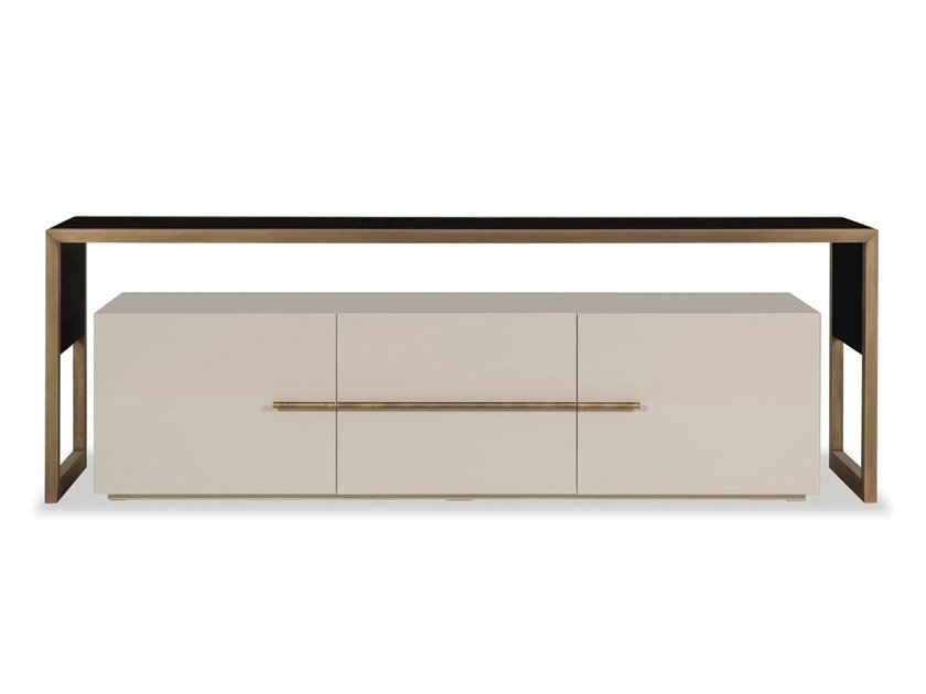 Lacquered metal TV cabinet with flap doors BRIDGE | TV cabinet by Stylish Club