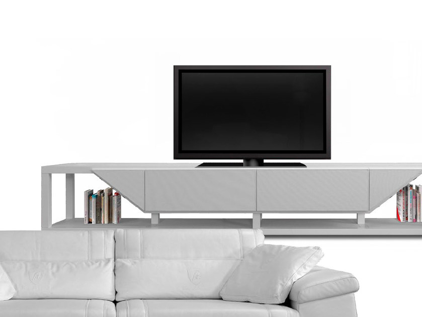 Low leather TV cabinet BOOSTER | TV cabinet by Tonino Lamborghini Casa
