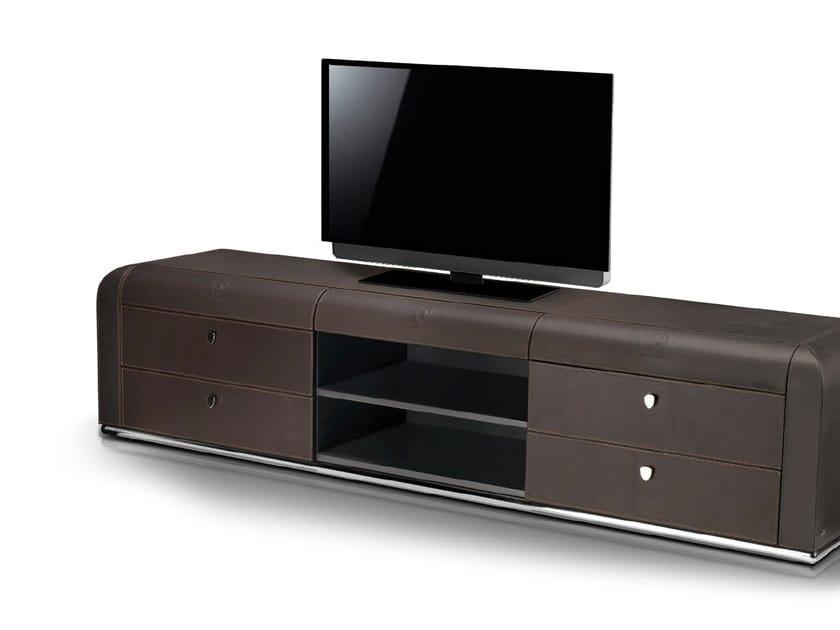 Low leather TV cabinet BEST MODERN | TV cabinet by Tonino Lamborghini Casa