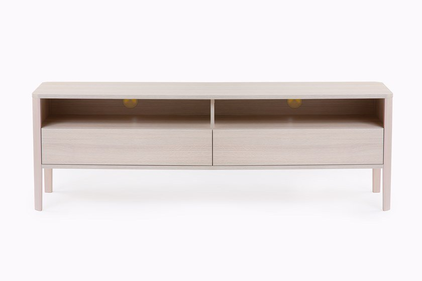 Wood veneer TV cabinet with drawers OSLO | TV cabinet by Woodman