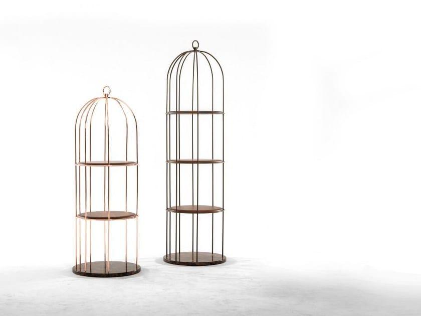 Open freestanding metal bookcase TWEET by Tonin Casa