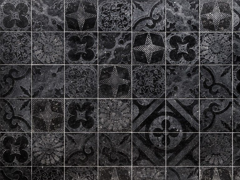 Natural stone flooring TWENTY NEW BLACK by Lithos Mosaico Italia