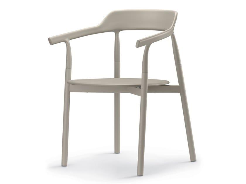 Sedia in plastica con braccioli con schienale aperto TWIG COMFORT / 10E   Sedia by Alias