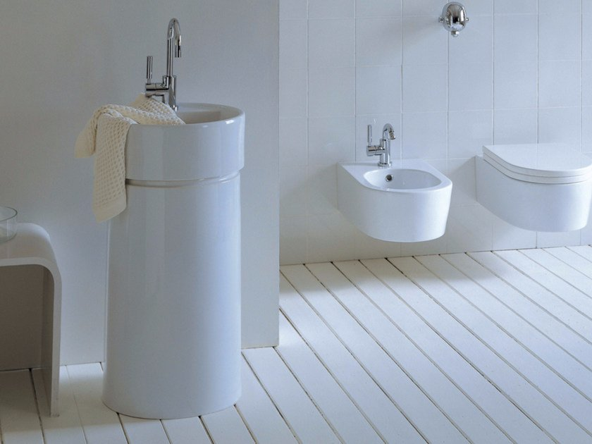 Ceramic washbasin TWIN COLUMN | Ceramic washbasin by CERAMICA FLAMINIA