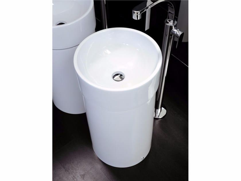 Freestanding ceramic washbasin TWIN COLUMN   Freestanding washbasin by CERAMICA FLAMINIA