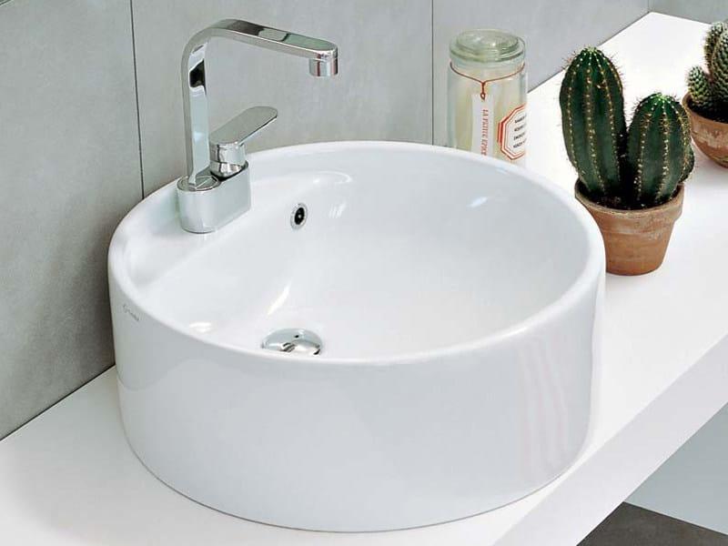 Countertop ceramic washbasin TWIN SET 52 | Countertop washbasin by CERAMICA FLAMINIA