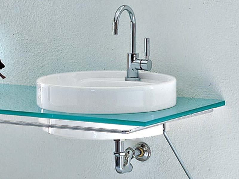 Inset ceramic washbasin TWIN SET 52 | Inset washbasin by CERAMICA FLAMINIA