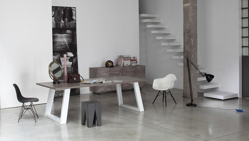 Tavolo rettangolare in legno massello twins devina nais