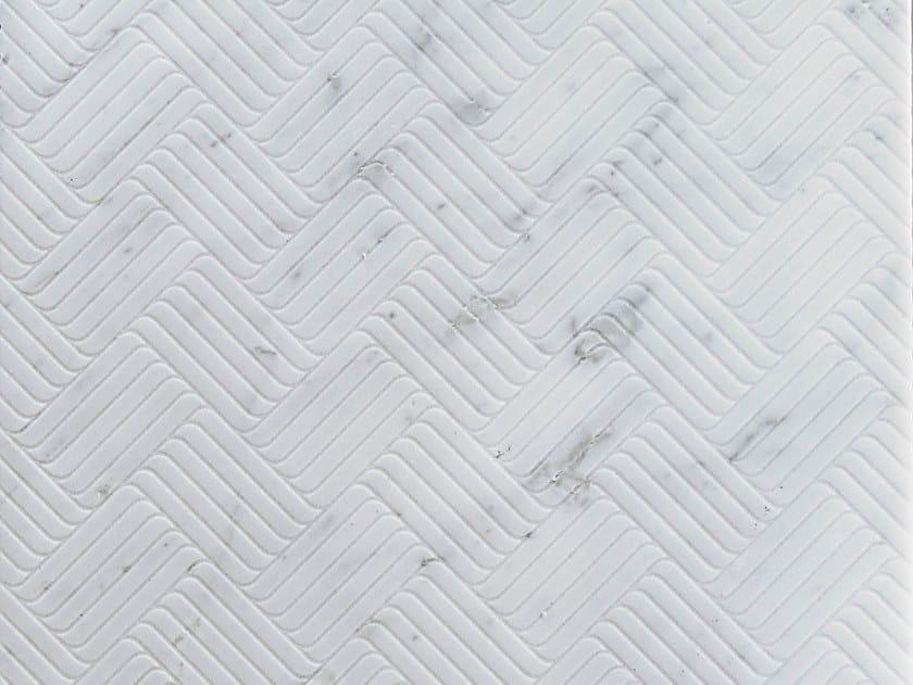Marble wall/floor tiles TWIST CARRARA by TWS