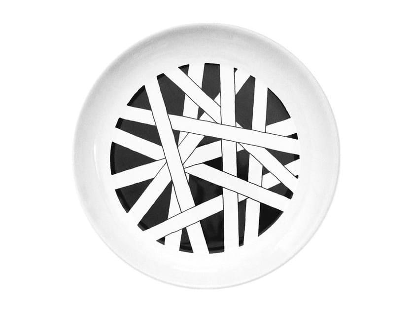 Ceramic dinner plate TWIST by Kiasmo