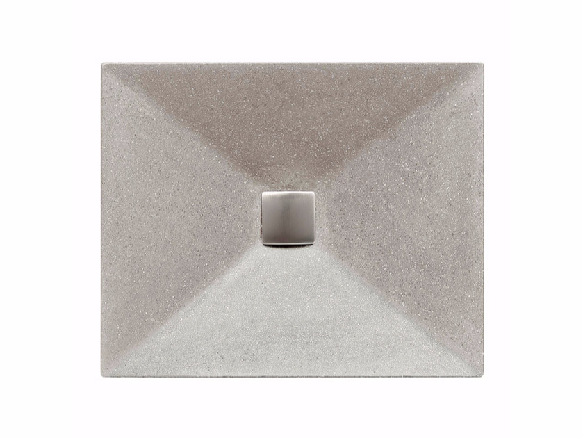 Countertop rectangular single marble grit washbasin TWIST by Mipa