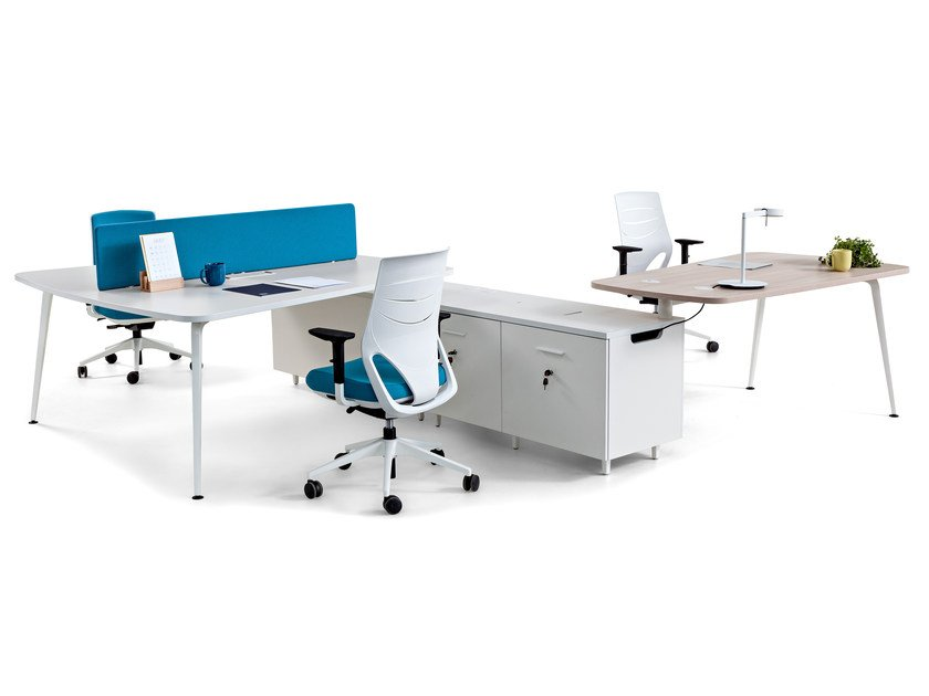 Office desk with shelves TWIST | Office desk with shelves by ACTIU