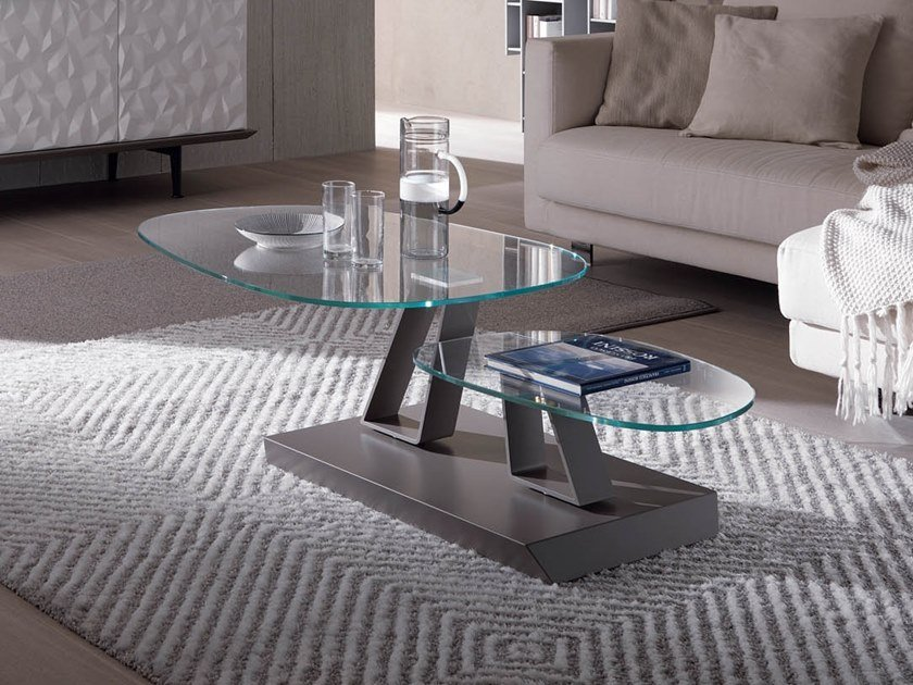 Low crystal coffee table TWIST SASSO | Crystal coffee table by Ozzio Italia