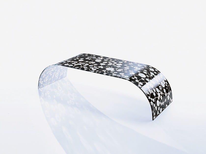 Low rectangular crystal coffee table TWIST SETT'ANTA BLACK by Casali