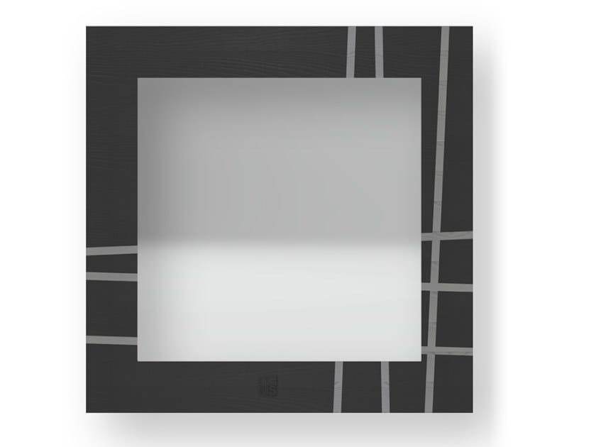 Specchio quadrato da parete con cornice TWO COLD | Specchio by LIGNIS®