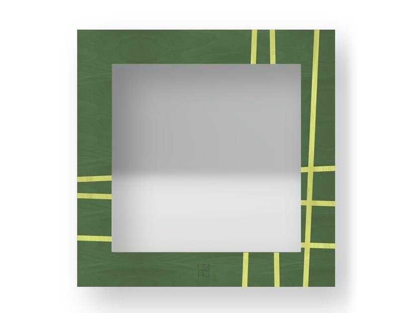 Specchio quadrato da parete con cornice TWO COLORS | Specchio by LIGNIS®