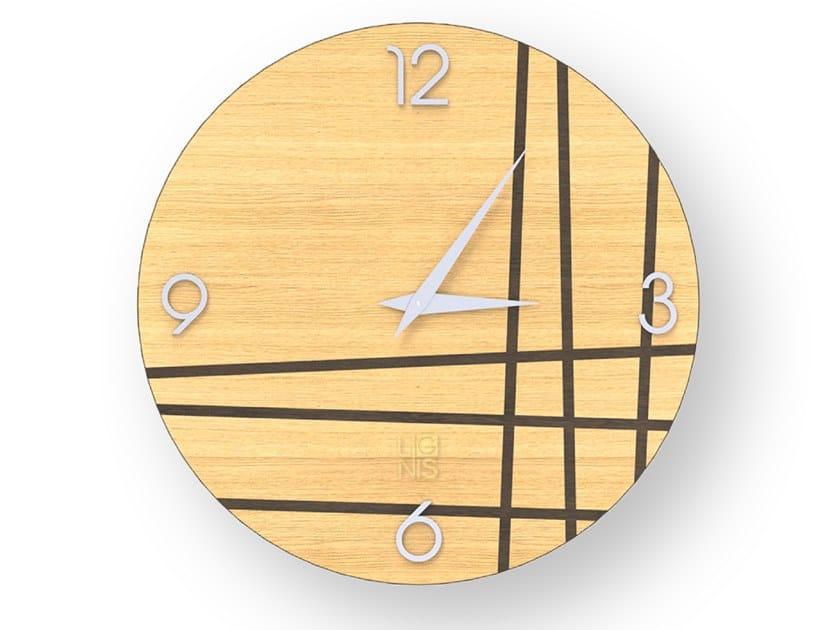 Orologio da parete in legno intarsiato TWO WARM | Orologio by LIGNIS®