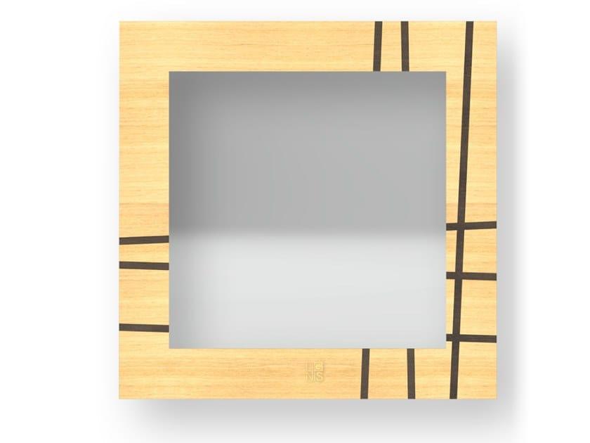 Specchio quadrato a parete con cornice TWO WARM | Specchio by LIGNIS®