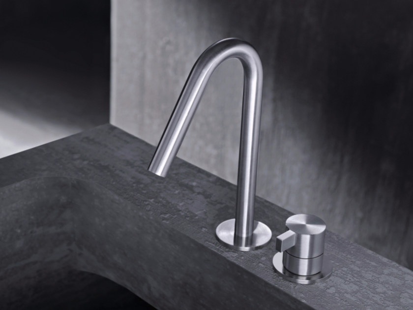 2 hole countertop single handle stainless steel washbasin mixer TXQ30 | Washbasin mixer by Radomonte