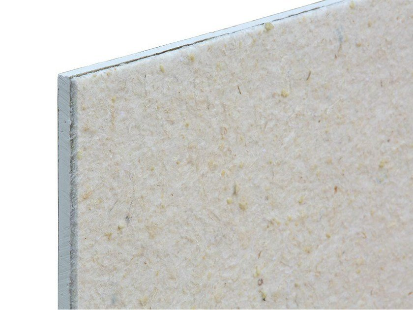 Sound insulation and sound absorbing panel in mineral fibre TXT® Gipslight by ETERNO IVICA