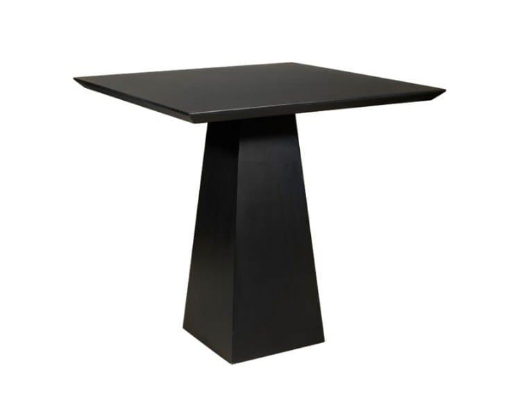 Square wood veneer table TYE by Conceito Casa