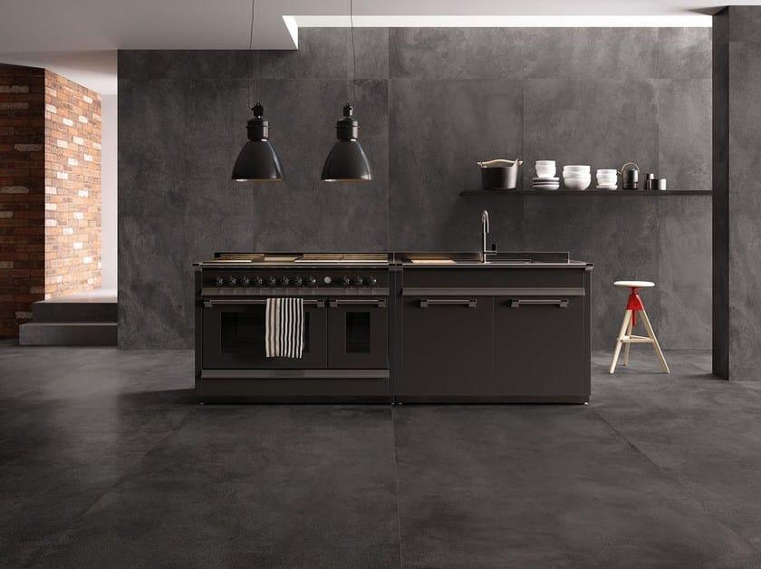 Porcelain stoneware wall/floor tiles with metal effect TYPE DARK by Marca Corona
