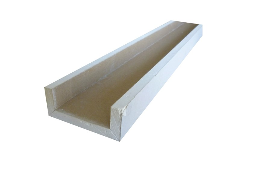 Plasterboard cornice U 90° + 90° V by Biemme