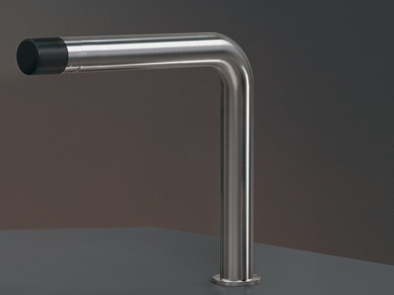 Brushed-finish deck-mounted stainless steel spout UDT 44 by Ceadesign