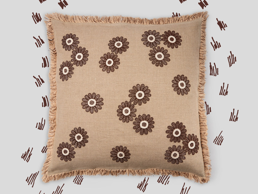 Hand embroidered cushion ULSTER by Jupe by Jackie