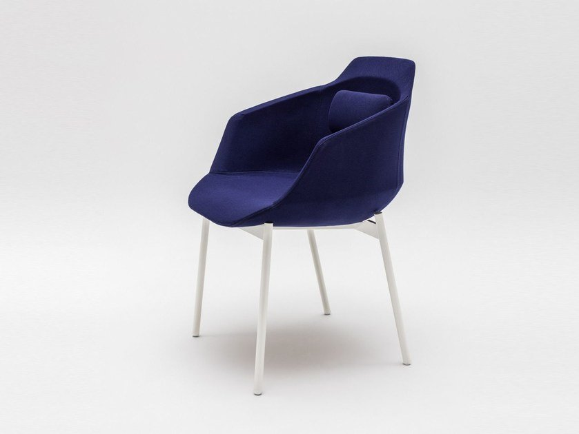 Fabric chair with armrests ULTRA P1 | Chair with armrests by MDD