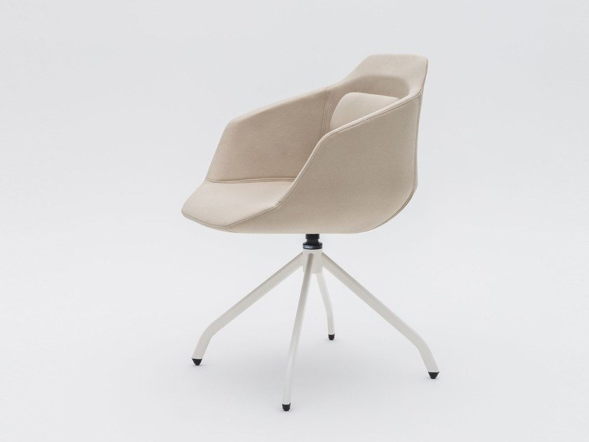Trestle-based fabric chair with armrests ULTRA UFP7 by MDD
