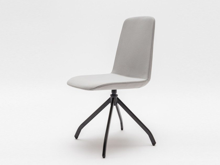 Swivel trestle-based fabric chair ULTI P7 by MDD