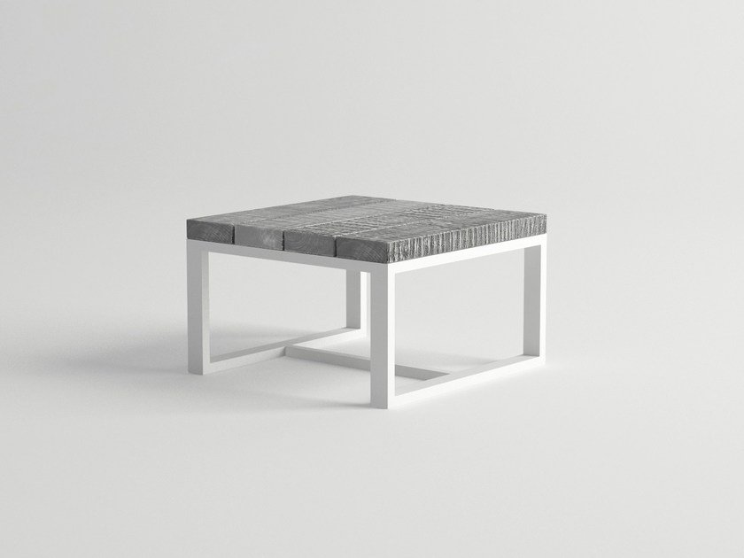 Aluminium and wood garden side table ULTRA | Garden side table by 10Deka