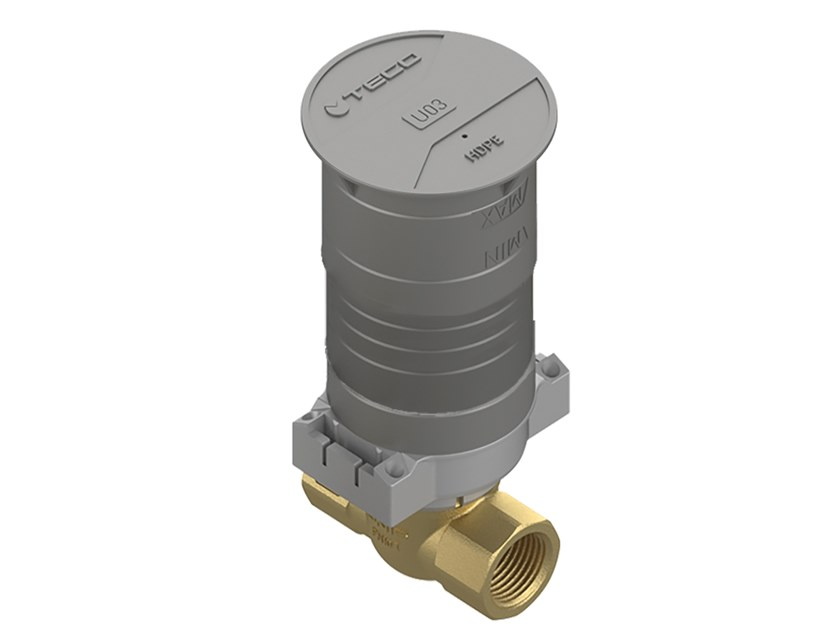 Flush-mounting valve straight H-Plus version ULTRA H-PLUS DRITTA by TECO
