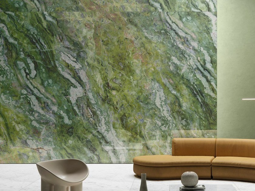 Porcelain stoneware wall/floor tiles with marble effect ULTRA MARMI - BRILLIANT GREEN by ARIOSTEA