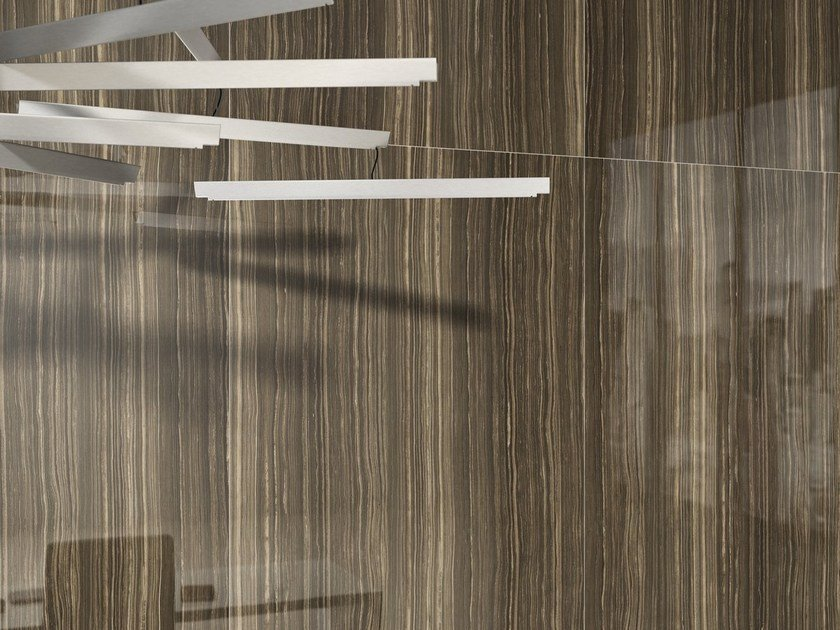 Wall/floor tiles with marble effect ULTRA MARMI - ERAMOSA BROWN by ARIOSTEA
