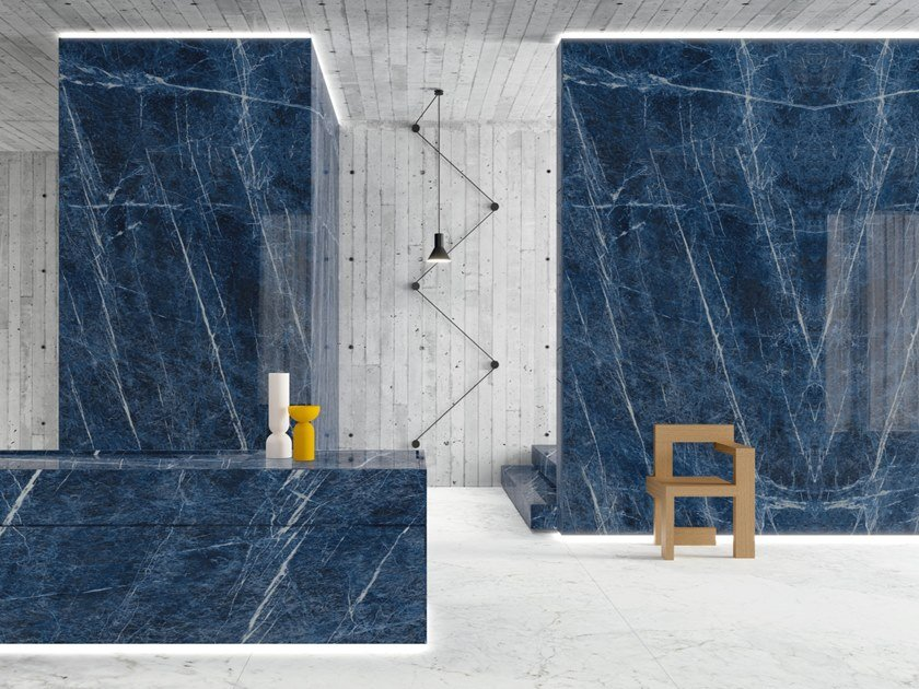 Pavimento/rivestimento in gres porcellanato effetto marmo ULTRA MARMI - SOLIDATE BLU by ARIOSTEA