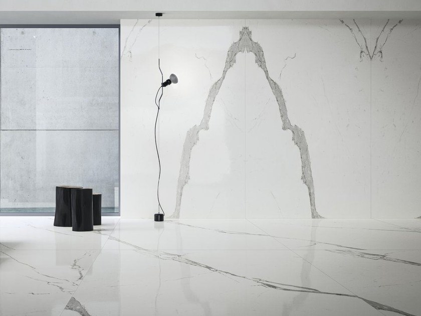 Porcelain stoneware wall/floor tiles with marble effect ULTRA MARMI - STATUARIO ULTRA by ARIOSTEA