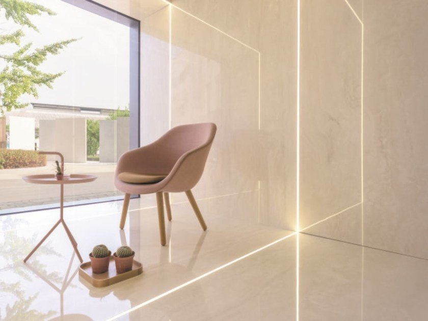 Wall/floor tiles with marble effect ULTRA MARMI - TRAVERTINO NAVONA by ARIOSTEA