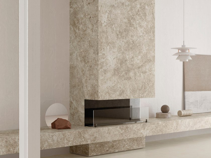 Porcelain Stoneware Wall Floor Tiles With Marble Effect Ultra Marmi Tundra Grey Ultra Marmi Collection By Ariostea
