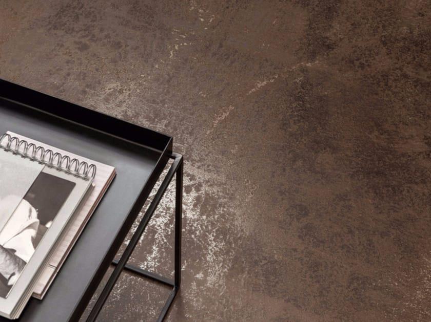 Pavimento/rivestimento in gres porcellanato effetto metallo ULTRA METAL - BROWN ZINC by ARIOSTEA