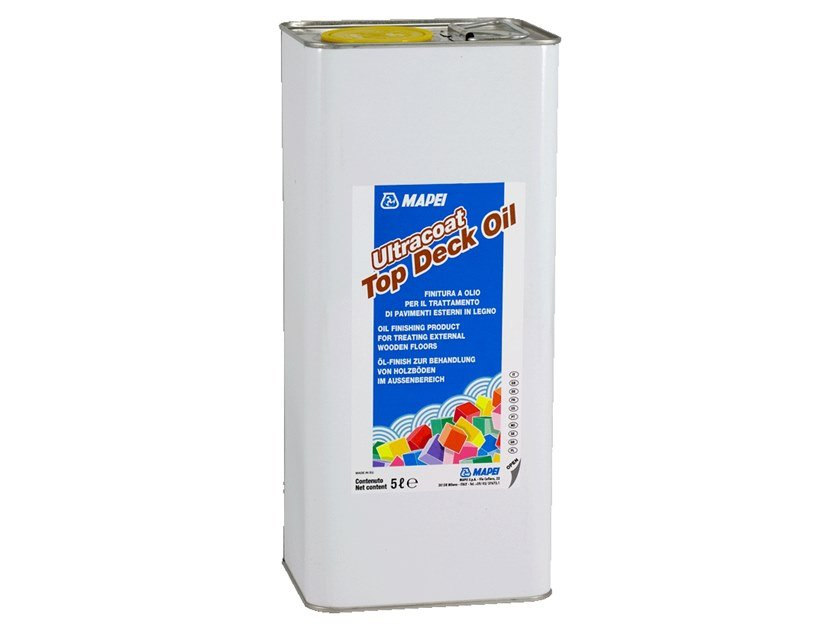 Wood protection product ULTRACOAT TOP DECK OIL by MAPEI
