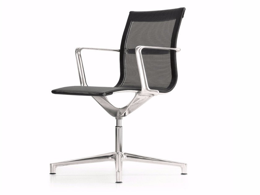 Swivel mesh task chair with 4-Spoke base with armrests UNA CHAIR MANAGMENT | Mesh task chair by ICF