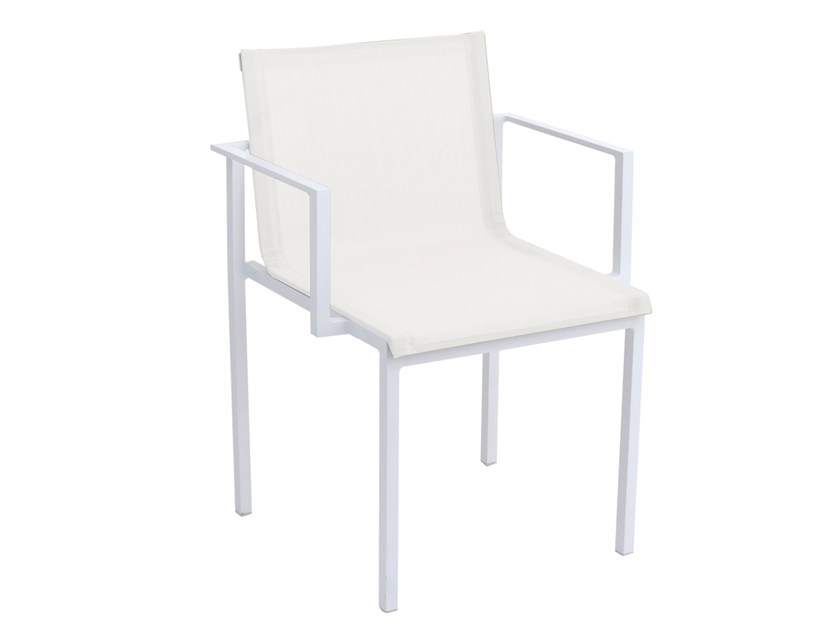 Fabric garden chair with armrests UNA | Fabric chair by calma