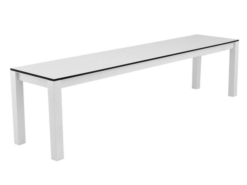 Contemporary style wood-product garden bench UNA | Garden bench by calma
