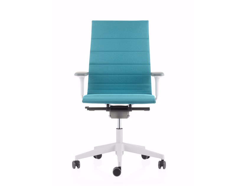 Fabric task chair with 5-Spoke base with casters UNA PLUS HD | Fabric task chair by ICF
